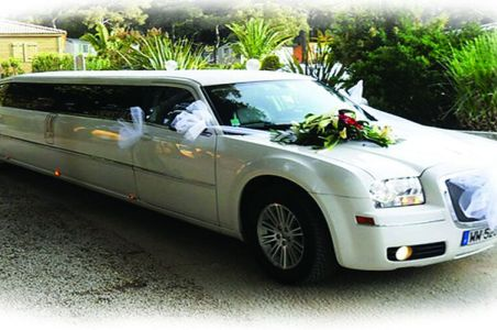 Decorated front of the phantom limousine