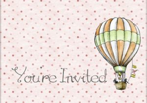 Invitation card for a birthday celebration party